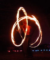 Fire spinning at Nexus 342